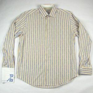 ROBERT GRAHAM Striped French Cuff Shirt Large